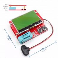 2015 ESR-T4 Mega328 цифровой тестер транзисторов Диод Триод Емкость ESR метр MOS/PNP/NPN LCR тестер метр 12864 ЖК-экран