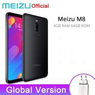 € 97.57 23% de DESCUENTO|Meizu M8 4 GB 64 GB versión Global V8 teléfono inteligente Helio P22 Octa Core 5,7