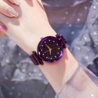 US $3.59 28% OFF|Luxury Women Watches Ladies Magnetic Starry Sky Clock Fashion Diamond Female Quartz Wristwatches relogio feminino zegarek damski-in Women