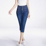 850.08 руб. 49% СКИДКА|Женские джинсы с высокой талией, обтягивающие брюки длиной до икры, голубые эластичные джинсы больших размеров, женские джинсовые шорты с карманами 26 40 6XL-in Джинсы from Женская одежда on Aliexpress.com | Alibaba Group