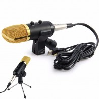 US $16.99 15% OFF|Volemer MK  F100TL Wired Microphone USB Condenser Sound Recording Mic with Stand for Chatting Singing Karaoke Laptop Skype-in Microphones from Consumer Electronics on Aliexpress.com | Alibaba Group