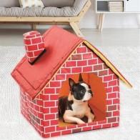 Портативный домик для собак, складной зимний теплый домик для домашних животных, домик для кошек, щенков, питомник, домик для домашних живот... - Pets