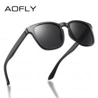 €8.19 73% de réduction|AOFLY carré lunettes de soleil hommes polarisé 2020 marque Design conduite TR90 cadre voyage pêche lunettes de soleil mâle zonnebril heren UV400 on AliExpress