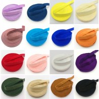 "5 Yards/lot 3/8""10mm Elastic Ribbon Solid FOE Fold Over Elastics Spandex Satin Band Lace Sewing Trim DIY Pick color"