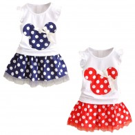 US $2.22 10% OFF|Minnie Mouse Clothes Set Kids Baby Girls Summer Outfits Clothes Sleeveless T shirt Tops Polka Dot Tutu Skirt Party-in Clothing Sets from Mother & Kids on Aliexpress.com | Alibaba Group