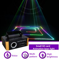 9601.71 руб. |AUCD 500 МВт RGB лазерный Малый SD карты программы DMX анимация проектор этап Освещение PRO DJ Show Сканер Свет SD RGB500 купить на AliExpress