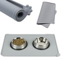 Водонепроницаемый коврик для домашних животных для собак кошек, однотонный силиконовый коврик для домашних животных, миска для питья, водн...