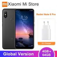13082.11 руб. |Глобальная версия Xiaomi Redmi Note 6 Pro 4 Гб 64 Гб мобильный телефон Snapdragon 636 Octa Core 20MP + 2MP фронтальная камера 6,26