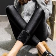 504.32 руб. 15% СКИДКА|2018 зимние для женщин теплый кашемир брюки для девочек леди большой двор плюс размеры 3XL 4XL 5XL толстые брюки черный блеск тонкий стрейч капри мотобрюки купить на AliExpress