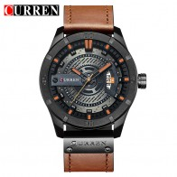 US $18.54 47% OFF|CURREN Top Brand Luxury watch men date display Leather  creative Quartz Wrist Watches relogio masculino -in Quartz Watches from Watches on Aliexpress.com | Alibaba Group