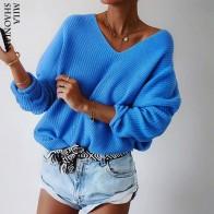 1047.29 руб. 45% СКИДКА|Осенние повседневные пуловеры свитера женский выдолбленный v образный вырез топ с длинными рукавами однотонные трикотажные хлопковые офисные женские мягкие свитеры-in Пуловеры from Женская одежда on Aliexpress.com | Alibaba Group