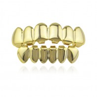Hip Hop Gold Teeth Grillz Top & Bottom Grills Dental Mouth Punk Teeth Caps Cosplay Party Tooth Rapper Jewelry Gift XHYT1001-in Body Jewelry from Jewelry & Accessories on Aliexpress.com | Alibaba Group