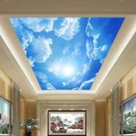 633.86 руб. 49% СКИДКА|Пользовательские 3D фото стена Бумага голубое небо и белые облака стены Бумага Интерьер Потолок Топ лобби Гостиная настенной Бумага декор-in Обои from Товары для дома on Aliexpress.com | Alibaba Group