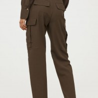 Wool-blend Utility Pants - Dark khaki green - Ladies | H&M CA