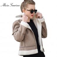 2503.62 руб. 14% СКИДКА|2019 пальто из искусственной овчины женская кожаная Толстая замшевая куртка Женская осенне зимняя овечья шерсть короткие куртки мотоциклиста UV3001-in Искусственный мех from Женская одежда on Aliexpress.com | Alibaba Group