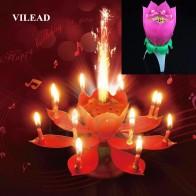 284.34 руб. 30% СКИДКА|VILEAD краткое романтическая музыкальная свеча цветок лотоса вечерние подарок Art Свеча на торт ко дню рождения огни вечерние DIY украшения торта для детей купить на AliExpress