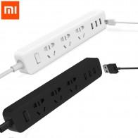 100% Оригинальные Xiaomi Mi мощность полосы электрической розетки с 3 порты usb мощность Extender Быстрая зарядка с RU ЕС Великобритания KR адаптер купить на AliExpress