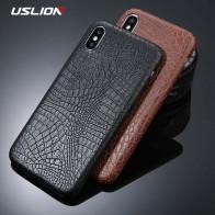 USLION для iPhone 5 5S SE 6 6S 7 8 плюс X чехол Крокодил текстуры телефонные чехлы из искусственной кожи задняя крышка Coque для iPhone XS XR XS Max купить на AliExpress