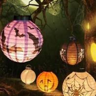 Портативный декоративный фонарь с принтом Хэллоуина 1шт