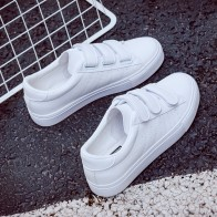 US $17.15 48% OFF|2018 summer new fashion women shoes casual high platform hole PU leather striped simple women casual white  shoes sneakers-in Women