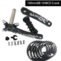 175 Fatbike Fat bike crank set 100mm BB 104BCD 9S 10S 11S 2*10S Crankset Chainwheel 32/34/36/38T 104mm BCD Single Speed Chainset