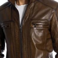 Мужская кожаная куртка Vivamood ME-9540-1 - Мужские кожаные куртки