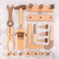 Новый деревянный ящик для инструментов ролевые игры комплект развивающие игрушки Монтессори гайки винт пила Молот для ремонта и сборки Пло... - Для детей
