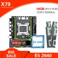Kllisre X79 M S2.0 motherboard Xeon E5 2640 LGA 2011 4Pcs x 4GB= 16GB 1600 DDR3 ECC REG memory-in Motherboards from Computer & Office on AliExpress