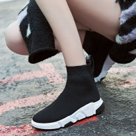 US $15.62 16% OFF|Sooneeya 2018 New Stretch Sock Shoes Woman Flats Fashion Bling Women Casual Shoes Elastic Sneakers Shoes Outdoor Female Loafers-in Women