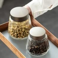 Прозрачная стеклянная приправа Чайник Емкость для хранения бутылка для хранения домашнего украшения пищевой контейнер кухонный инструмен... - Красивая кухня