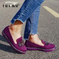 1356.94 руб. 49% СКИДКА|LALA IKAI/женские лоферы из флока на платформе, украшенные кристаллами; удобная обувь без застежки на плоской платформе с круглым носком; 014A0301 4-in Женская обувь без каблука from Туфли on Aliexpress.com | Alibaba Group