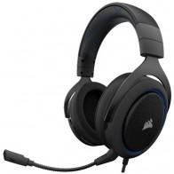 Купить Компьютерная гарнитура Corsair HS50 Stereo Gaming Headset blue по низкой цене с доставкой из маркетплейса Беру