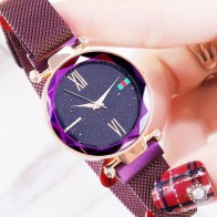 US $11.99 48% OFF|Starry Sky Watch Fashion Rose Gold Women Watches Minimalism Magnetic Buckle Luxury Casual Ladies Roman Numeral Female Wristwatch-in Women