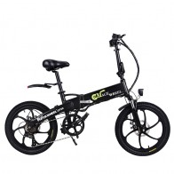 US $513.0 10% OFF|Europe Stock 20 Inch Electric Bike Magnesium Alloy Wheel 48V 10AH 350W Folding Electric Bike 7 Speed gears 20