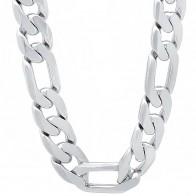 313.34 руб. |925 стерлингового серебра 10 мм Мужские Фигаро цепи ожерелье для мужчин 18