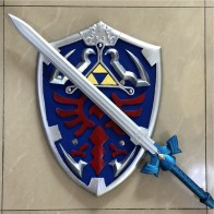 1:1 Skyward Sword & Shield /Set Link Safety PU Material Weapon Cosplay Sword Kids Gift Role Play Gift 80cm-in Action & Toy Figures from Toys & Hobbies on AliExpress