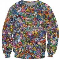 US $14.52 16% OFF|Funny pullover Cartoon hoodies men/women Pokemon print 3d sweatshirt crewneck casual sweats plus size S 5XL 8style Free shipping-in Hoodies & Sweatshirts from Women