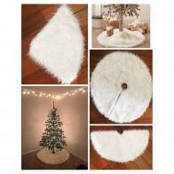 261.48 руб. 23% СКИДКА|1 шт.. белая плюшевая Рождественская елка юбка мех ковер веселое Рождественское украшение для дома натальное дерево юбки Новый год украшения купить на AliExpress