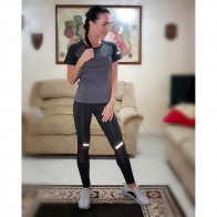 US $15.99 30% OFF|BINTUOSHI Sexy Yoga Set Women Fitness Running TShirt + Pants Breathable Gym Workout Clothes Compressed Yoga Leggings Sport Suit-in Yoga Sets from Sports & Entertainment on Aliexpress.com | Alibaba Group