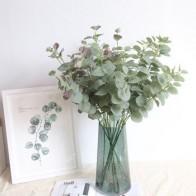 Искусственные листья ветки Ретро зеленый Шелковый лист эвкалипта для домашнего декора свадебные растения искусственная ткань для украшен... - Цветы для дома