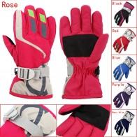 Для мальчиков/девочек снегоход зимние теплые лыжные перчатки спортивные Водонепроницаемый ветрозащитная зимняя рукавица Регулируемый лыжный ремень Лыжный Спорт Перчатки купить на AliExpress
