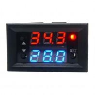228.99 руб. 28% СКИДКА|W2810 один способ цифровой двойной Дисплей Контроль температуры модуль реле DC12V 20A NTC Сенсор термостат Контроль температуры купить на AliExpress