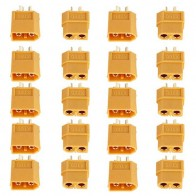 115.86 руб. 16% СКИДКА|XT60 XT 60 Мужской Женский Пуля Штепсель для RC Lipo Батарея 10/20 шт (5 пар/10 пар) оптовая продажа купить на AliExpress