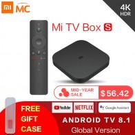 3690.65 руб. 26% СКИДКА|Оригинальный Глобальный Xiaomi Mi tv Box S 4 K HDR Android tv 8,1 Ultra HD 2G 8G wifi Google Cast Netflix IP tv Set top Box 4 медиаплеер-in ТВ-приставки from Бытовая электроника on Aliexpress.com | Alibaba Group