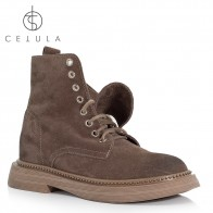 US $54.33 |@Cetula 2018 Handcrafted Optional Fold Collar Lace up Cassual Suede Female Boots ft.Silver Studs Trimmed Rubber Outsole-in Ankle Boots from Shoes on Aliexpress.com | Alibaba Group