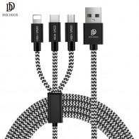 € 4.52 20% de DESCUENTO|DUX DUCIS 3 en 1 Cable USB para iPhone 3in1 Universal de carga rápida USB tipo C Cable Micro USB para samsung Xiaomi Cables de teléfono-in Cables para teléfonos móviles from Teléfonos celulares y telecomunicaciones on Aliexpress.com | Alibaba Group