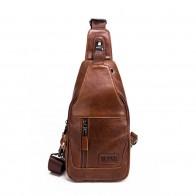 1393.1 руб. 47% СКИДКА|Брендовая Повседневная сумка на плечо из воловьей кожи, мужской рюкзак с ремнем через одно плечо, дорожные сумки мессенджеры, через плечо, USB слот для зарядки-in Сумки на пояс from Багаж и сумки on Aliexpress.com | Alibaba Group