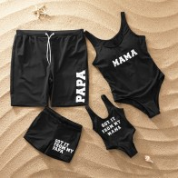 US $6.1 53% OFF|Family Matching Swimwear Outfits Look Mother Daughter Bikini Swimsuits Father Son Swim Shorts Mommy Dad and Me Beachwear Clothes-in Matching Family Outfits from Mother & Kids on Aliexpress.com | Alibaba Group