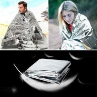 123.67руб. |210*130 см аварийное одеяло спасательное изоляционное занавес для кемпинга на открытом воздухе светоотражающее укрытие-in Безопасность и выживание from Спорт и развлечения on AliExpress - 11.11_Double 11_Singles