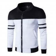 US $8.7 27% OFF|2018 winter Autumn Jacket Casual Zipper Sportswear Patchwork Jacket Long Sleeve Coat Slim Bomber Jacket Men Overcoat-in Jackets from Men